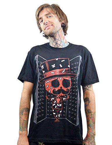 Courtes Manches Noir Homme T Ink shirt Akumu Uni SqTXvSw
