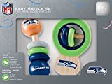 NFL Seattle Seahawks Baby Rattle Set – 2 Pack