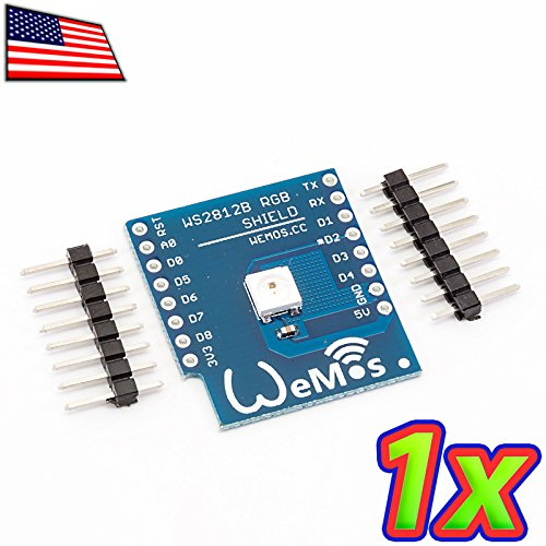 UPGRADE INDUSTRIES - [1x] WS2812B Digital Serial RGB LED for WeMos D1 Mini NodeMCU Arduino ESP8266 by UPGRADE INDUSTRIES
