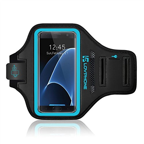 Galaxy-S7-Edge-Armband-LOVPHONE-Easy-Fitting-Sport-Running-Exercise-Gym-Sportband-with-Key-Holder-Card-SlotWater-Resistant-and-Sweat-proof-for-Samsung-Galaxy-S7-Edge-2016-Release