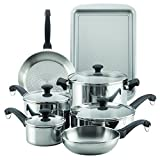 Farberware 70217 Classic Traditions Stainless Steel Cookware Set, Large