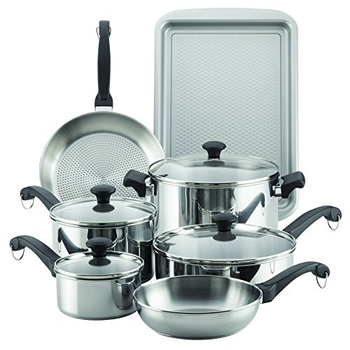 Farberware 70217 Classic Traditions Stainless Steel Cookware Set, Large, ()