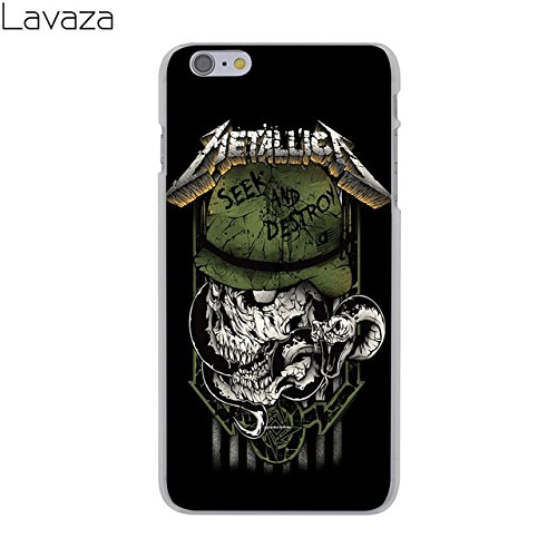 Green Black Metallica iPhone 7 Case White Metallica iPhone 8 Cover Seek Destroy Master Puppets Rock Roll Music Metal James Hetfield Lars Ulrich American Band Skull, Hard Plastic