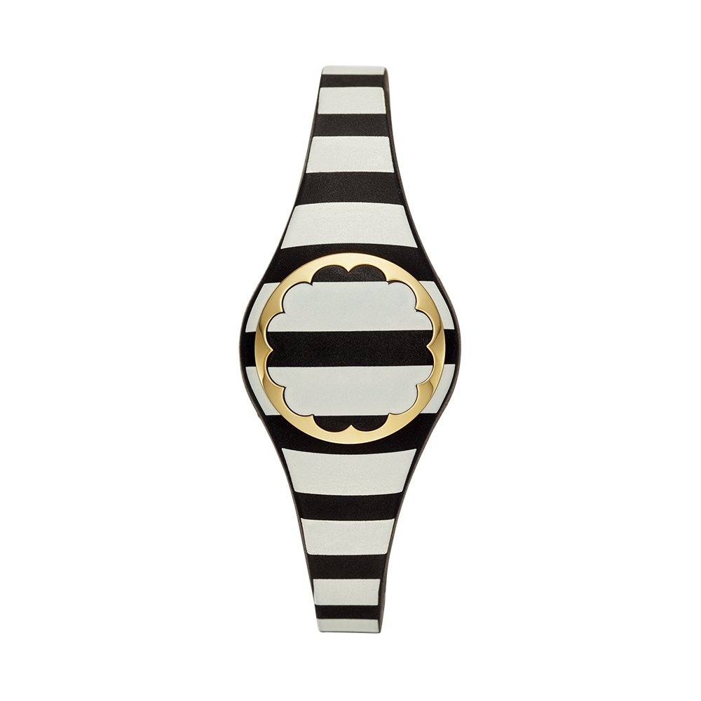 Kate Spade New York black and white stripe scallop activity tracker