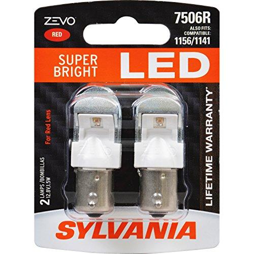 Light Jetta Bulb Tail (SYLVANIA ZEVO 7506 Red LED Bulb, (Contains 2 Bulbs))