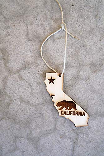California Ornament,California Gift,California Souvenir,Wood California Ornament,California Bear Ornament,California Christmas Gift,California Wedding Gift,California Wedding Favor,Gifts under - Ornaments California