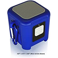 Riptide Outdoor Waterproof Bluetooth Speaker with Carabiner Loop (Blue)