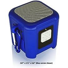Riptide Outdoor Waterproof Bluetooth Speaker with Carabiner Loop (Blue)