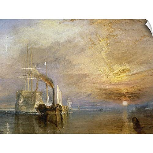 CANVAS ON DEMAND The Fighting Temeraire Tugged to her Last Berth to be Broken up, Before 1839