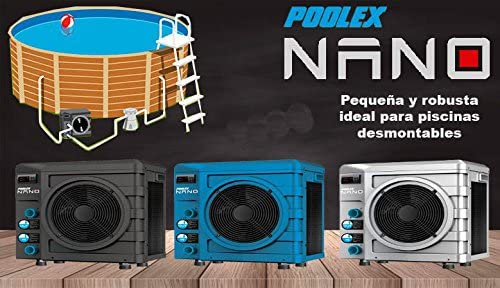 Bomba de calor Nano POOLEX para piscinas hasta 20 m3 - Color Azul ...