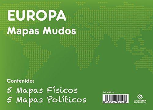 GRUPO ERIK EDITORES, S.L. - Pack mapas mudos es Europa 5+5 Grupo ...