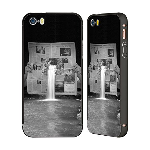 Official Thomas Barbey Breaking News Illusions Black Aluminum Bumper Slider Case For Apple Iphone 5   5S   Se