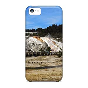 New Arrival Iphone 5c Case Strange Rock Formation Near A Geyser Case Cover