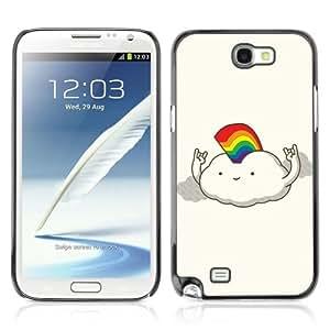 YOYOSHOP [Funny Rainbow Cloud Illustration] Samsung Galaxy Note 2 Case