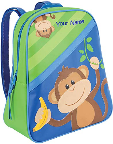 Personalized Stephen Joseph Boy Monkey Go Go Backpack with Embroidered Name
