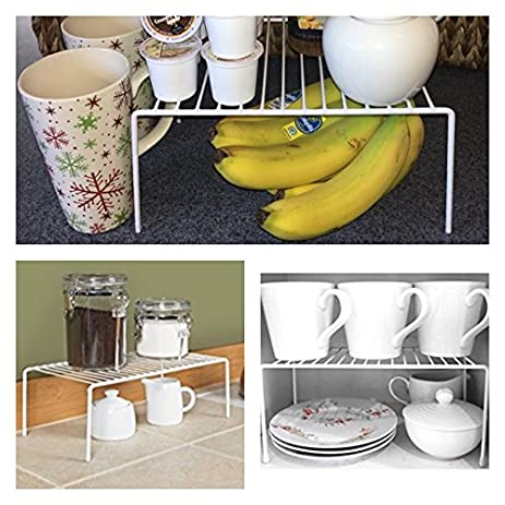 Adams of Saratoga - White Wire Cabinet and Counter Shelf - Dish Rack - K Cup & Amazon.com: Adams of Saratoga - White Wire Cabinet and Counter Shelf ...