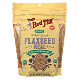 BOB'S RED MILL, Organic Flaxseed Meal, Brown, Pack of 4, Size 16 OZ, (Gluten Free Kosher 95%+ Organic)