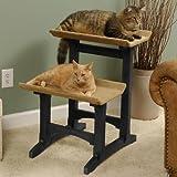 Mr. Herzher's Feline Furnitue Double Seat Ebony Finish, My Pet Supplies