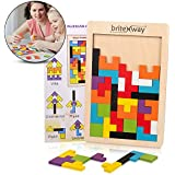 Fun & Educational Wooden Tetris Puzzle Toy For Toddlers & Preschoolers – Colorful, Safe & Stimulating Wood Block Puzzle Game Set, Promotes Essential Early Development Skills – Perfect Kids Gift Idea