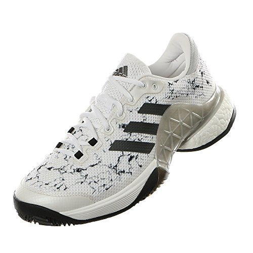 adidas Men's Barricade 2017 Boost White/Silver Metallic/Core Black 8.5 D US by adidas