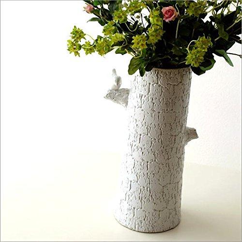 陶器のトールベース とまり木 [sik6222] B06X962FXC