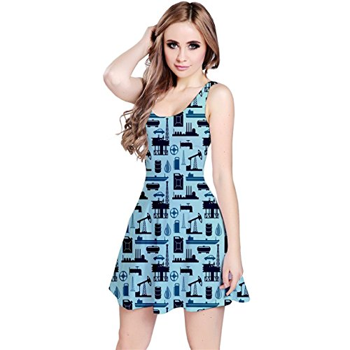 jogja-womens-oil-industry-sleeveless-dress-blue-3xl