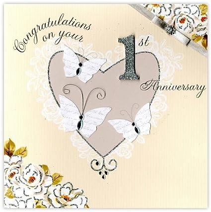 Anniversario Matrimonio In Inglese.Second Nature Biglietto Di Auguri Per Primo Anniversario Di