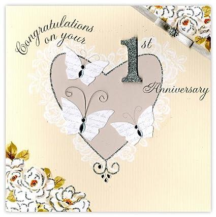 Auguri 1 Anniversario Di Matrimonio.Second Nature Biglietto Di Auguri Per Primo Anniversario Di