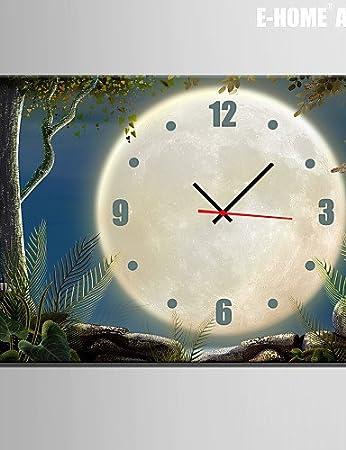 "BENBU Modern stylish decorative wall clock Scenery Under The Moon Clock in Canvas 1pcs , 24"""