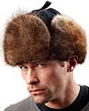 Frr Canadian Rcmp muskrat Fur Jockey Trapper Hat - L