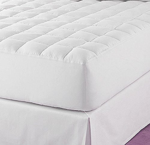 Home Bargains Plus Classic Twin-XL Extra 18'' Deep Microfiber Quilted Mattress Pad, Dorm Mattress Pad - Twin Extra Long