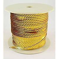 Cinta de lentejuelas dorada, 6 mm de ancho