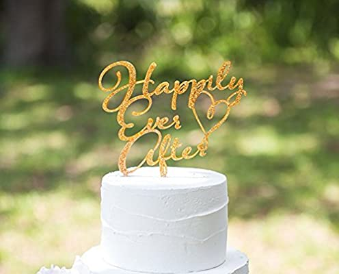 Amazon Com Fairytale Wedding Cake Topper Happily Ever After