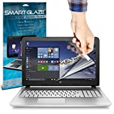 "ONX3® SmartGlaze ( Pack Of 3 ) HP Pavilion 15-ab270sa 15.6"" Laptop Case Custom Made Crystal Clear Premium LCD Screen Protectors Packs With Polishing Cloth & Application Card"