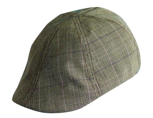 Dorfman Pacific Plaid IVY Cap (M, Brown)