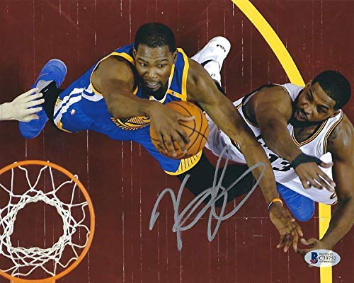 Kevin Durant Autographed Signed Golden State Warriors Basketball 8x10 Photo Bas C39752 - Authentic Memorabilia