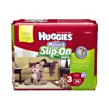 Huggies Little Movers Slip-On Diapers, Step 3, 26 Count (Pack of 4)