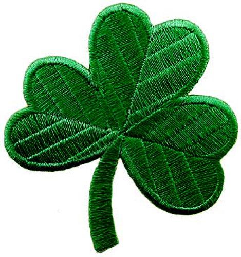 - Irish Clover Dark Green Embroidered Patch Lucky Shamrock Iron-On Ireland Emblem