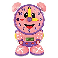 El viaje de aprendizaje Telly El reloj de tiempo de enseñanza, rosa