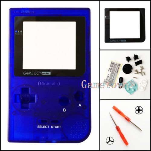 Gametown® Blue Housing Shell Cover Case Replacement Parts For Nintendo Gameboy Pocket Console GBP System