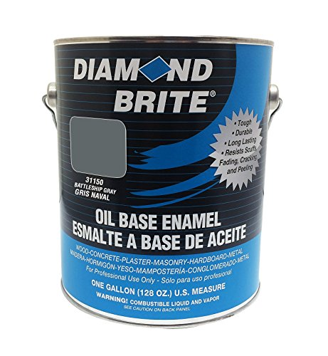 Diamond Brite Paint 31150 1-Gallon Oil Base All Purpose Enamel Paint   Battleship Grey
