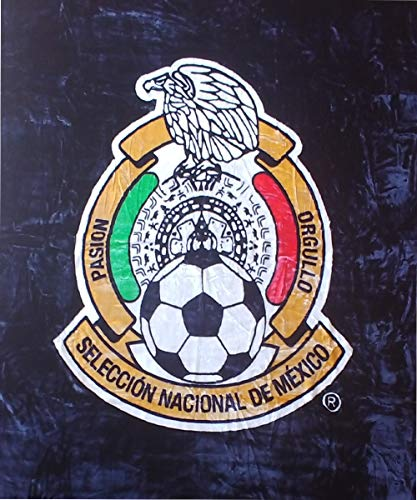 FIFA World Club Original Mexico National Soccer Team Logo Luxury Plush Blanket King Size Color Black