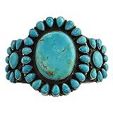 Anthony Skeets Sterling Silver Turquoise Cluster Bracelet Navajo