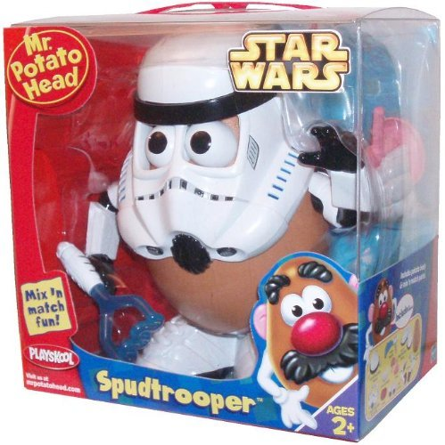 Playskool Helmet (Playskool Mr. Potato Head Star Wars Series - SPUDTROOPER with Helmet Face Mask 1 Set of Teeth Nose Laser Masher 2)