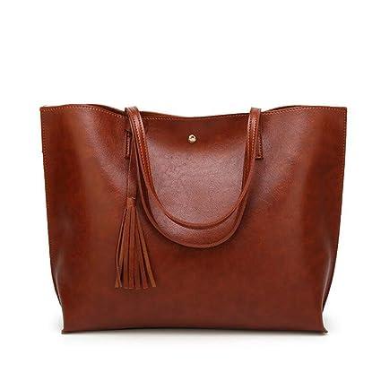 Amazon.com: Qzny Bolso de mano para mujer, con flecos, bolsa ...