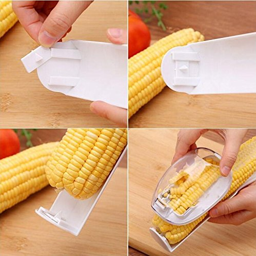 SameTech Corn Stripper Cutter Corn shaver Peeler Kitchen Cooking tools Remover With Hand Protector