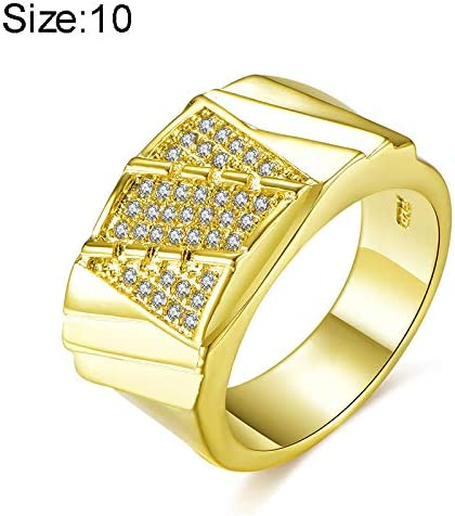 Gold Plated Wedding Bands Engagement Ring for Women Men Foviza Promise Couple Ring