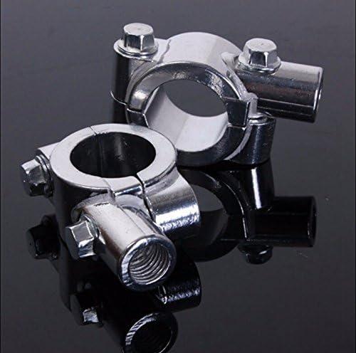 Htt Chrome Guidon pour moto 2,5/cm 25/mm 10/mm Miroir Filetage support de fixation Clamp adaptateur