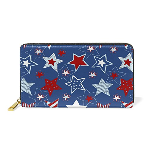 And Handbags Bright Organizer Womens Stars Deep 3 Around Wallet Zip Purses TIZORAX Space Clutch Pattern 8qSwxdZ1