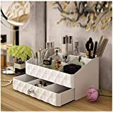 Maxkim Makeup Organizer Jewelry and Cosmetic Storage,Large Capacity,Fit Different Size of Cosmetic,Brushes,Palettes,Lipsticks,1 Drawer 9 Compartment (Small )